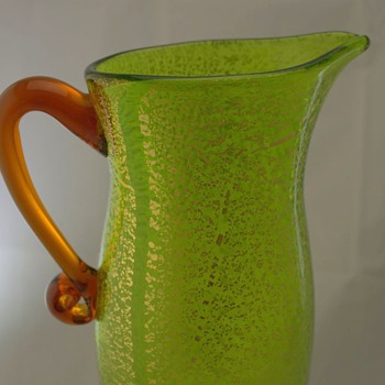 Japanese glass pitcher maker unknown - Art Glass