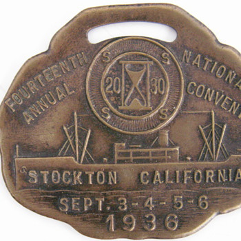 1936 National Convention 20-30 Club Watch Fob - Pocket Watches