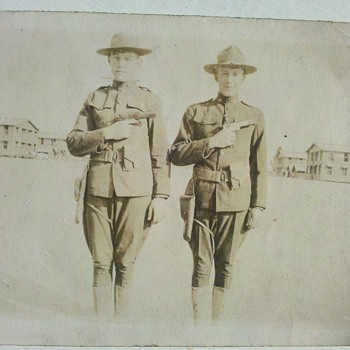 Great WWI US Army Snap Shot 2&quot; X 3&quot; 1917 - Military and Wartime