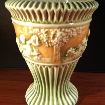 Roseville Donatello Vase - Art Pottery