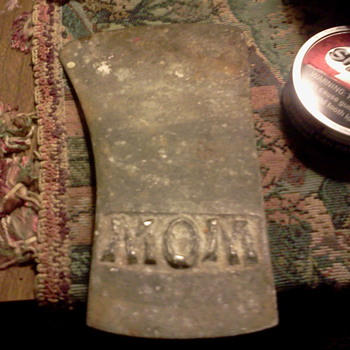 it'd aluminum axe head its old i don't know alto about it - Tools and Hardware