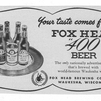 1953 Fox Head Beer Advertisement - Advertising