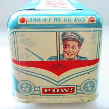 The honeymooners tin toy  bus from 1955