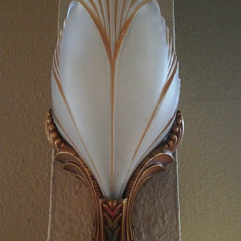 Art deco slip shade sconces - Art Deco
