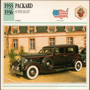 Vintage Car Card - Packard Super Eight