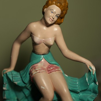 Chalkware Porn - Rita Hayworth - 1940?