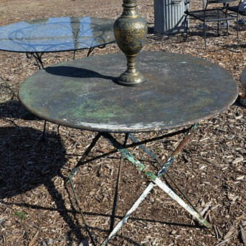 Vintage French Cafe Table with Great Patina - Furniture