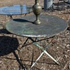 Vintage French Cafe Table with Great Patina