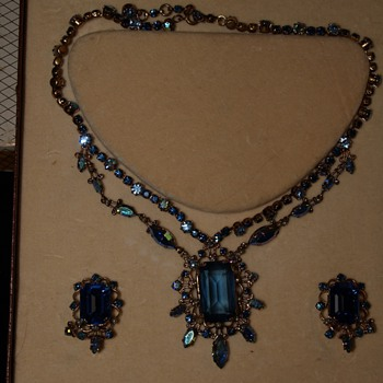 N. Sedlmayer & Co Austrian Crystal Necklace and Earrings