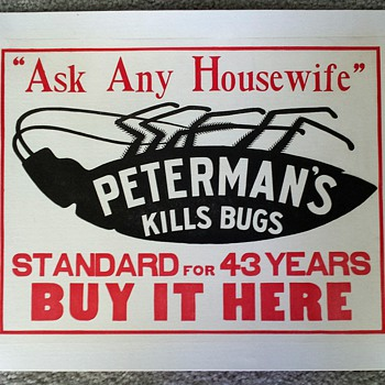 Original Peterman's Roach Food Ad ca. 1912