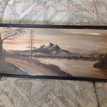 Mount Hood painting C. Jensen antique? - Visual Art