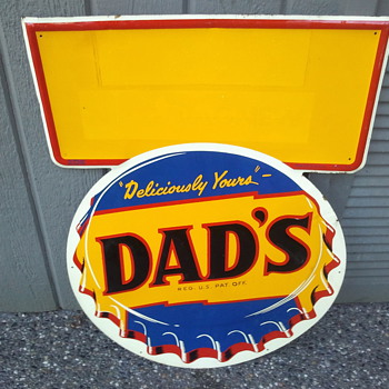 Dad's Root Beer Tin Sign - Advertising