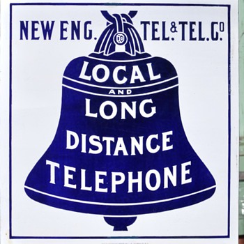 Early New England Tel & Tel single sided - Telephones