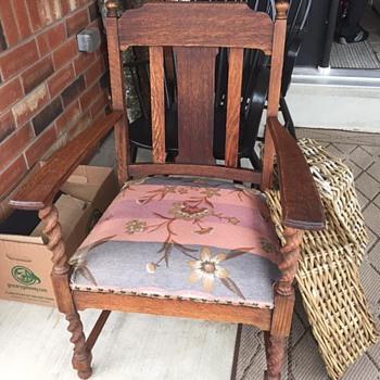 Yard Sale Project Piece Antique Arm Chair - Question