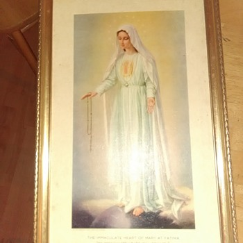 """""""My immaculate heart will triumph"""" framed print"""