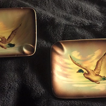 Vintage Duck Ashtrays
