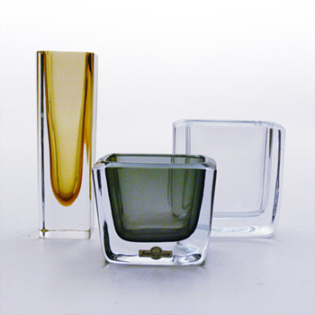 Strmbergshyttan miniature vases / cigarrete cases