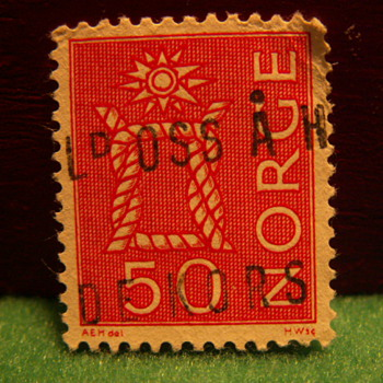 Vintage 50 Norge Stamp ~ Norway - Stamps
