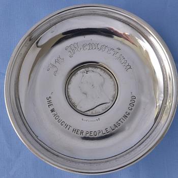 Queen Victoria Silver Dish - Sterling Silver