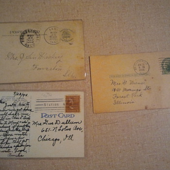 Lot 1- Early 20th century post stamps & Post cards