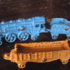 Kilgore cast iron train, small scale. 