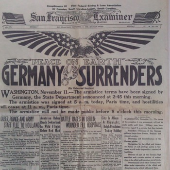 old newspaper reprint