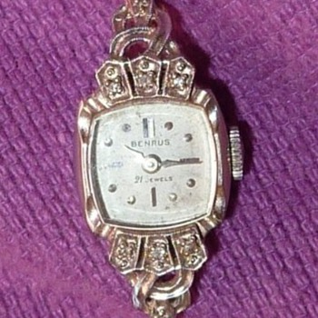 Benrus 14k 21 jewel wrist watch with diamonds - was my grandmother's - Wristwatches