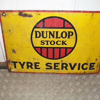 Donlop Enamel Sign  - Advertising