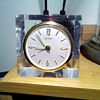 small Seth Thomas acrylic clock,..again!