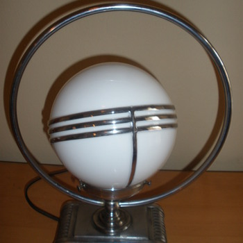 Art Deco Saturn Lamp