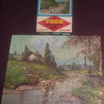 1950's Tuco Extra Thick Blossom Time Puzzle approx 300 pieces