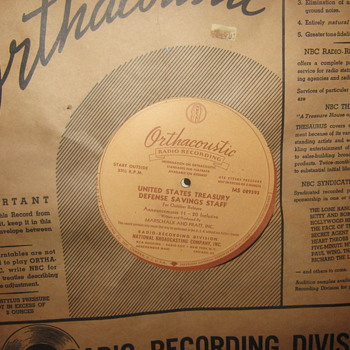 WW II RECORD   U.S.ARMY