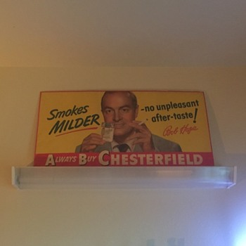Vintage Chesterfield Cigarettes Bob Hope Poster