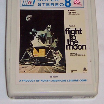 Buzz Aldrin Signed 8 Track Tape Cassette