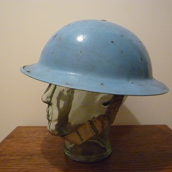 Early British United Nations helmet.
