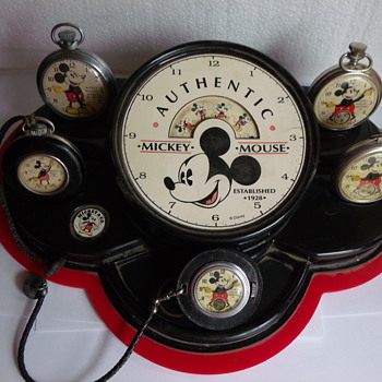 Mickey Mouse pocket watch Store Counter Display - Wristwatches