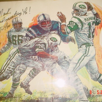 SUPER BOWL III - SIGNED JOE NAMATH LITHOGRAPH - Football