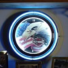 Harley-Davidson...Neon Clock...Patriotic