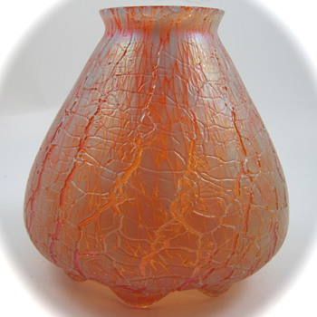 Teplitz Glass Lamp Shade, ca. 1900