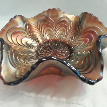Carnival Glass Candy Dish Bowl