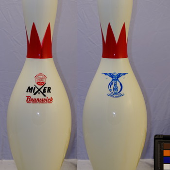 Brunswick Mixer Blue Eagle ABC Bowling Pin