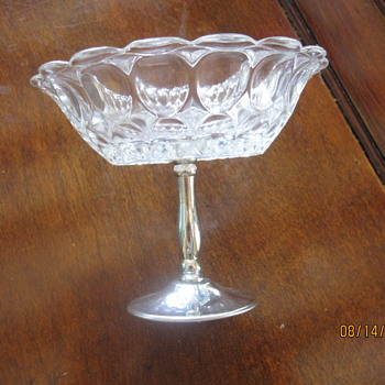 bubble like small candy dish with metal stand