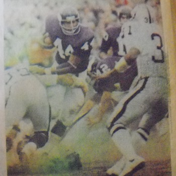 Chuck Foreman, Fran Tarkenton, Jim Lash, John Gilliam and Bud Grant photos from a 1973 edition of the Minneapolis Tribune