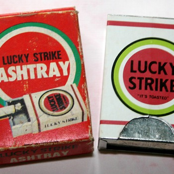 Vintage Lucky Strike Cigarettes Advertising Pocket/Dashboard Ashtray