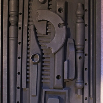 Mystery Fake Louise Nevelson Black Wood Assemblages