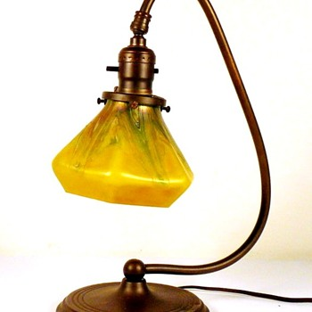 Pallme-Konig (or Rindskopf ) Desk Lamp Shade. - Art Glass