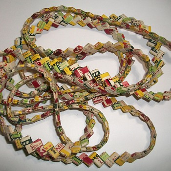 Chewing Gum Wrapper Chain - Folk Art