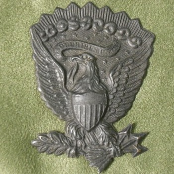 Pair of Darkened US Army Hat Eagles