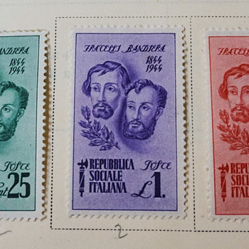 Fracelli Bandiera 1844-1944 Italian Stamps