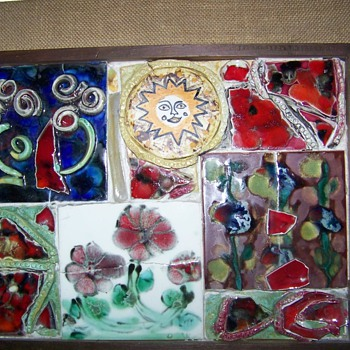 Ceramic art framed pictures 1970 - Art Pottery